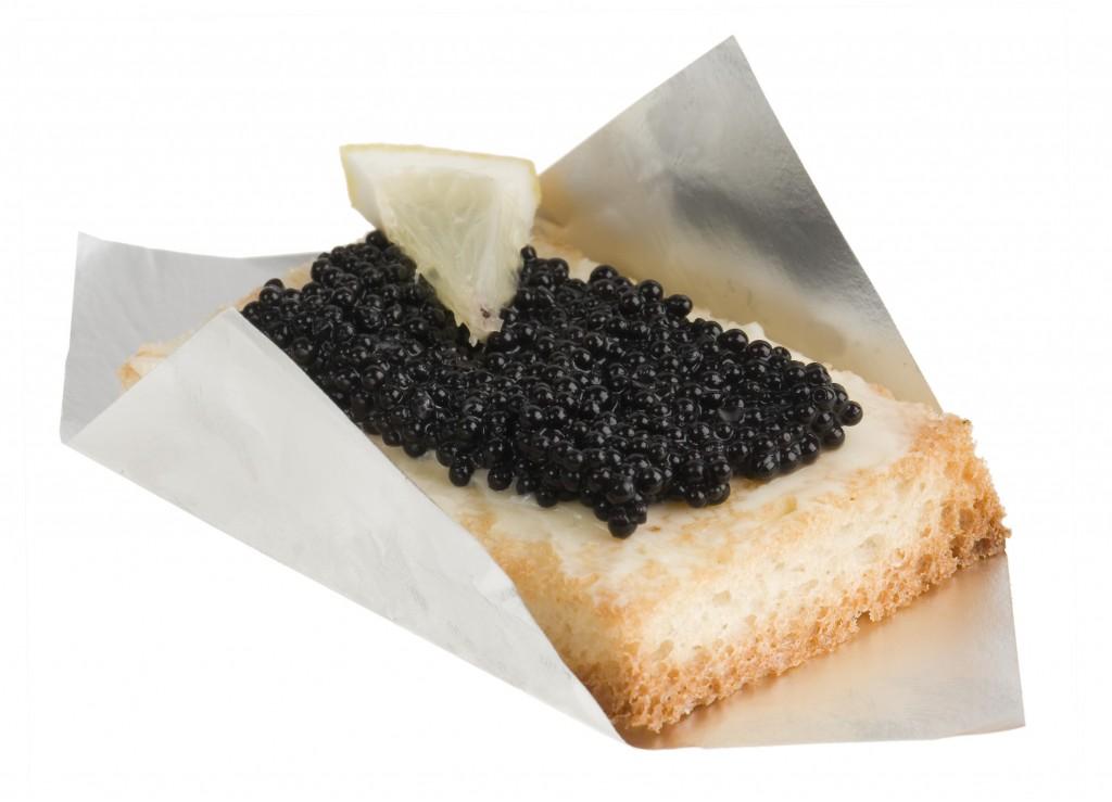 Blini caviar i formatge